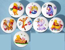 8 FUN WINNIE THE POOH and FRIENDS KIDS DRESSER DRAWER KNOBS  MADE AS ORDERED