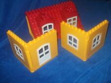 LEGO DUPLO PUPPENHAUS 4 X HAUS WAND WÄNDE 2 X DACH 2 X Seitenteile Orange 5639