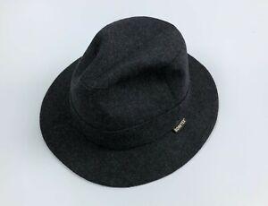 Vintage WEGENER Gore Tex Waterproof Wool Blend Trilby Hat Gray Size 56