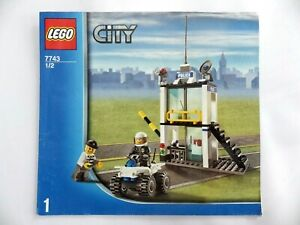 Instructions LEGO City Control Police Manuals Instruction Mounting Ref:7743