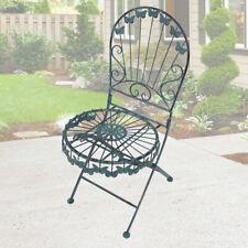 Deko  Vintage Stil Klapp Sitz Möbel antik grün Terrasse Innen Außen Stuhl Balkon
