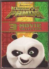 Kung Fu Panda 1, 2 & 3 - DVD + Digital HD 3-Movie Collection BRAND NEW