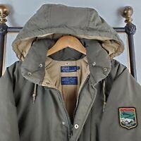 Rare VTG 90s POLO RALPH LAUREN Medium Suicide Ski Down Olive Puffer Coat Jacket
