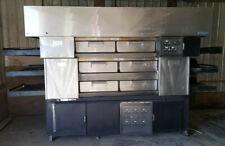 HUGE 3 Deck Triple Stack Electric Conveyor Pizza Pride Oven by Randell w/ Hood