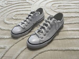 Converse Chuck Taylor All Star Low White Leather Unisex Mens UK7 25.5CM
