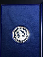 1988 Mickey 1oz Silver Proof Coin, #4 The Mickey Mouse Club, with Box and COA