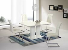 VENICE White High Gloss Dining Table *TABLE ONLY*