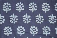 Indian Handmade printed. Fabric hand Block print Cotton Dress fabric. 1 Yards