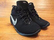 Prensa de Nike Gs/Ps Negro Hi Top Informal Zapatillas Size UK 6 EU 40
