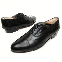 @@ Vintage Stacy Adams Men's Black Leather Dress Shoes Sz 11 M CapToe