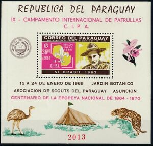 [P5410] Paraguay 1965 Scouting good sheet very fine MNH $120