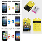 5in1 Nano SIM Card to Micro Standard Adapter Converter Set Kit for iPhonY^ss