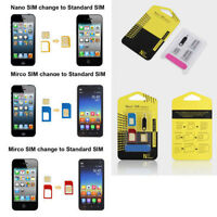 5in1 Nano SIM Card to Micro Standard Adapter Converter Set Kit for iPhone