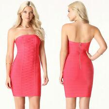 BEBE LACE UP DETAIL STRAPLESS STRETCH BANDAGE DRESS NWT NEW $139 XSMALL XS