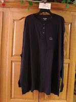 NEW MENS ST JOHNS BAY LONG SLEEVE HENLEY THERMAL SHIRT NAVY  SIZE 4XL