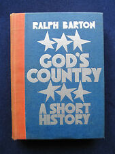 God's Country A Short History SIGNED by RALPH BARTON Satirical U.S. History