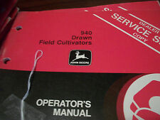 John Deere Tractor Operator'S Manual 940 Drawn Field Cultivators Issue K3