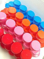 100 Tiny Plastic Jars Container Geocache Pot Makeup 1tsp Party Favors DecoJars