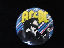 AC/DC-Angus Young-Mutli-Color-Heavy Metal-Pin Badge Button-80's Vintage-Rare