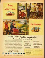 1951 Vintage ad for Greyhound Bus lines/Harvest/Farm Scene (021013)