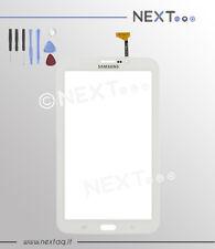 "Touch screen per schermo samsung galaxy tab 3 bianco P3200 7"" T211 biadesivo+kit"