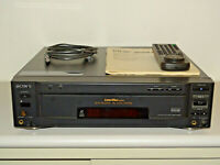 Sony MDP-850D High-End LaserDisc / LD Player, inkl. FB&BDA, 2 Jahre Garantie