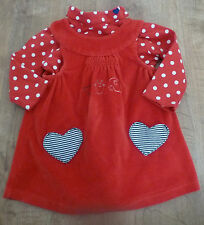 Tissaia***Ensemble Robe/Dress et T-shirt col roulé 6 mois rouge Fêtes