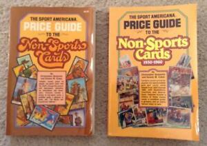 Wow! LOT of TWO (2) NON-SPORTS CARDS Price Guide books #1 (1981) and #2 (1985)!