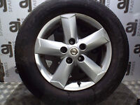 # NISSAN QASHQAI 1.6 PETROL 2009 ALLOY WHEEL 215/65/16 NEXEN 3MM TREAD