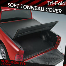 Lock Tri-Fold Soft Tonneau Cover For 2007-2013 Chevy Silverado 6.5' FT Bed Cover