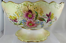 "Carlton Ware Edwardian Blush Footed 9"" Diameter Bowl"