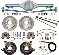 CURRIE 68-74 X-BODY MONO-LEAF REAR END & DISC BRAKES,LINES,PARKING CABLES,AXLES