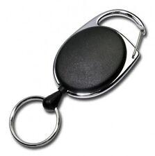 JOJO mit DRAHTSEIL / STAHLSEIL Metallumrandung und Schlüsselring Ausweishalter