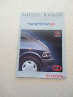1990 Toyota car range advertising booklet British International Motorshow