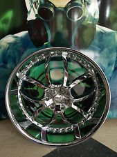 24 X 9.5  Bigg 406 Chrome Wheel +30 6 x 135