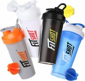 Protein Shaker Bottle 28 oz. Sport Water Milk Gym Workout Fitness Powder Mix Cup