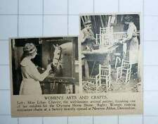 1920 Miss Lilian Cheviot Animal Painter Newton Abbot Women Making Mini Chairs