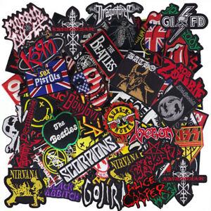 Wholesale Band Music Rock Punk Heavy Metal Reggae HipHop Iron on Patch Random