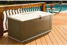 Deck Box 121-Gal W/ Seat Weather Resistant Durable Resin Home Large Item Storage