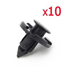 10* 8mm Plastic Rivet Fastener Mud Flaps Bumper Fender Push Clips for Nissan