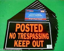 Bright Orange Hunting Aluminum Posted No Tresspassing Keep Out Trespassing Sign