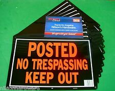 24 Pc Hy-Ko 10x14 Aluminum Posted No Trespassing Keep Out Tresspassing Sign 813