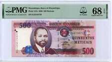MOZAMBIQUE 500 METICAIS 2006 P 147 a 15TH SUPERB GEM UNC PMG 68 EPQ TOP
