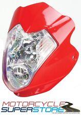 Universal Aura Motocicleta Moto Streetfighter Estilo Faros Carenado Rojo