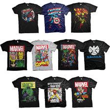 Official Marvel Heroes Avengers Team-up Comic Poster Iron Man Hulk Mens T-shirt
