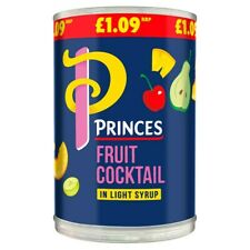 PRINCES / PRINCESS Fruit Cocktail In Light Syrup 410g x 6 Tins Cans LONG DATE