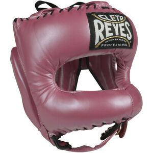 Cleto Reyes Leather Boxing Headgear with Nylon Face Bar