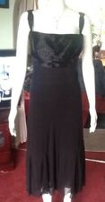 Lined Black Fit And Flare Dress With Beaded Detail By Nicholas Millington Sz16