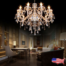 Elegant Crystal Decoration Chandelier Luxury Pendant Ceiling Lamp 10 Lights