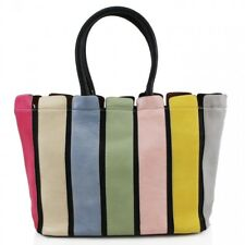 Women 894 Large Multi Stripes Handbag Shoulder Messenger Tote Ladies Satchel Bag